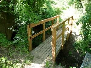 Repair bridge rails by the river for Asenby Parish Council