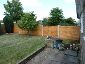 New concrete posts and fence panels