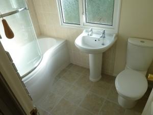 New bathroom - Bath, sink and toilet