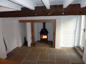 Indian stone laid in barn conversion