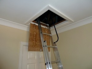Loft ladders, boarding and hatch