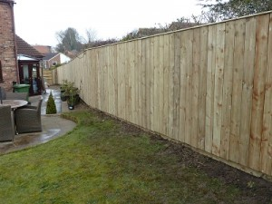 33 metres of new fencing with kickboards erected