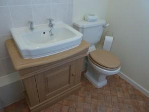 New bathroom - Toilet, vanity unit and basin